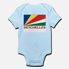 Seychelles Flag Gear Infant Creeper