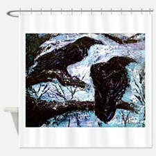 original ravens painting Winter is Coming Shower C