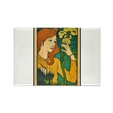 ART NOUVEAU Rectangle Magnet