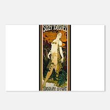 ART NOUVEAU Postcards (Package of 8)