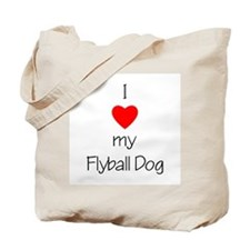 I Love My Flyball Dog Tote Bag