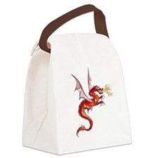 eldest Red Dragon Canvas Lunch Bag