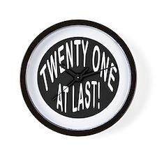 21 At Last Wall Clock