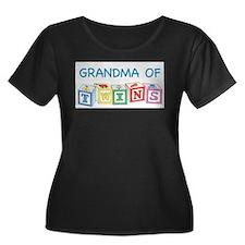 grandma twins.psd Plus Size T-Shirt