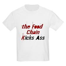 the Food Chain Kicks Ass Kids T-Shirt