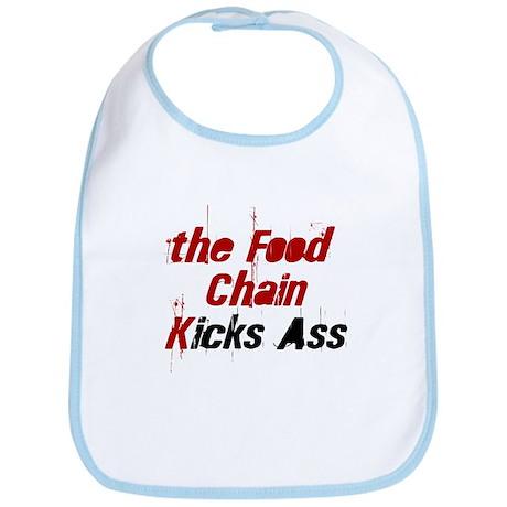 the Food Chain Kicks Ass Bib