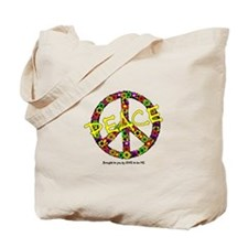 FLOWERS PEACE SIGN Tote Bag