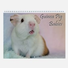 Guinea Pig Babies Wall Calendar