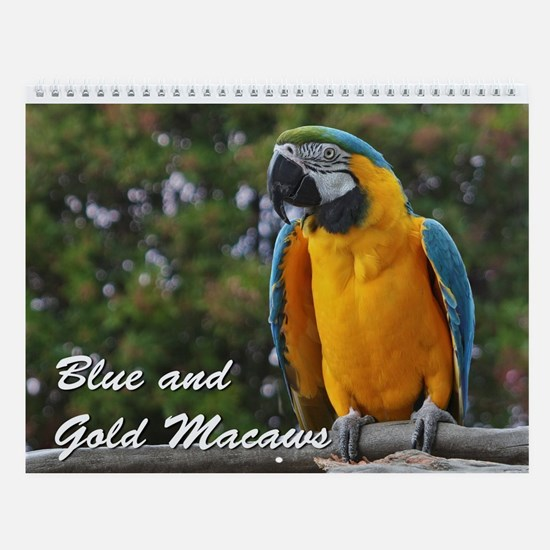Blue and Gold Macaws Wall Calendar