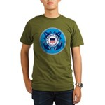 USCG Auxiliary Organic Men's T-Shirt (dark)