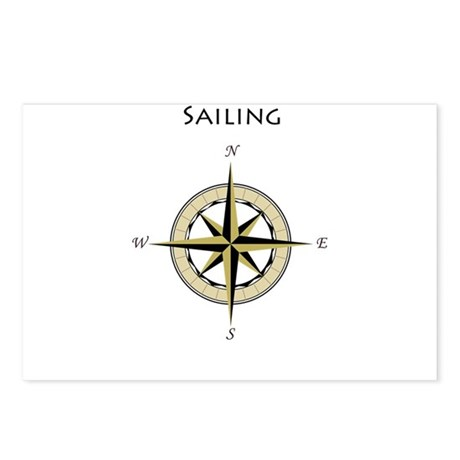 Sailing Compass Rose Postcards (Package of 8)