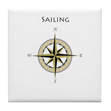 Sailing Compass Rose Tile Coaster