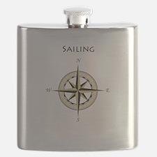 Sailing Compass Rose Flask