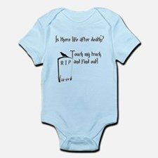 Is there life after death.png Infant Bodysuit
