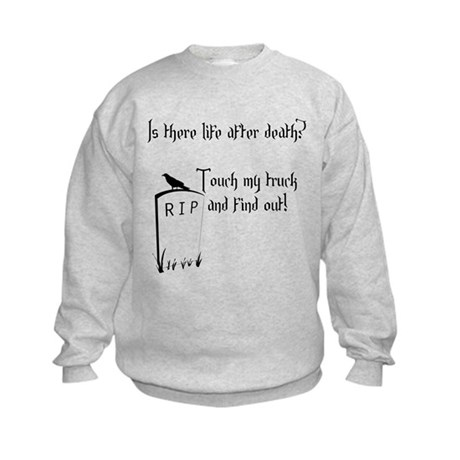 Is there life after death.png Kids Sweatshirt