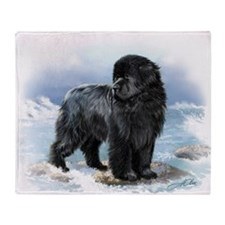 Unique Newfoundland art Throw Blanket