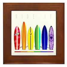 Rainbow Surf Framed Tile