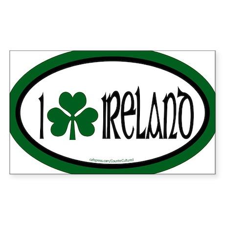 I Love Ireland 2 Oval Sticker