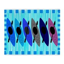kayaking blanket.PNG Throw Blanket