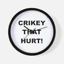 Crikey That Hurt Wall Clock