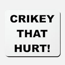 Crikey That Hurt Mousepad