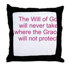 The Will of God Throw Pillow