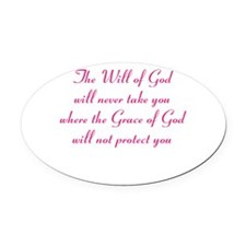 The Will of God Oval Car Magnet