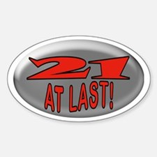 21 At Last Oval Decal