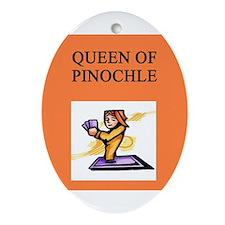 Unique Pinochle Ornament (Oval)