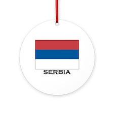 Serbia Flag Stuff Ornament (Round)