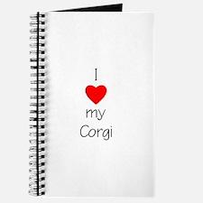 I Love My Corgi Journal