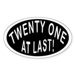 21 At Last Oval Sticker