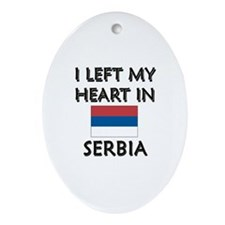 I Left My Heart In Serbia Oval Ornament