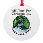 Christmas Peas Round Ornament