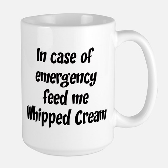 Feed me Whipped Cream Mugs