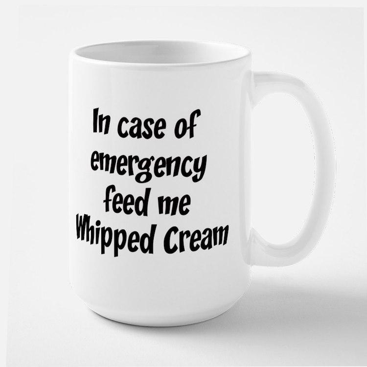 Feed me Whipped Cream Mugs