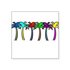 Palm Trees Rectangle Sticker