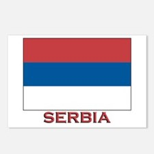 Serbia Flag Merchandise Postcards (Package of 8)
