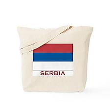Serbia Flag Merchandise Tote Bag