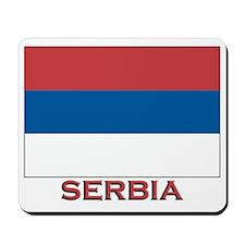 Serbia Flag Merchandise Mousepad