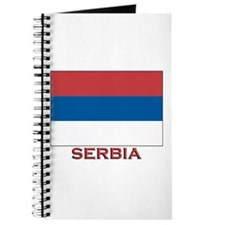 Serbia Flag Merchandise Journal
