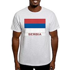 Serbia Flag Merchandise Ash Grey T-Shirt