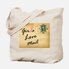 Cute Mail carrier breast cancer Tote Bag