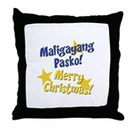 Maligayang Pasko Throw Pillow