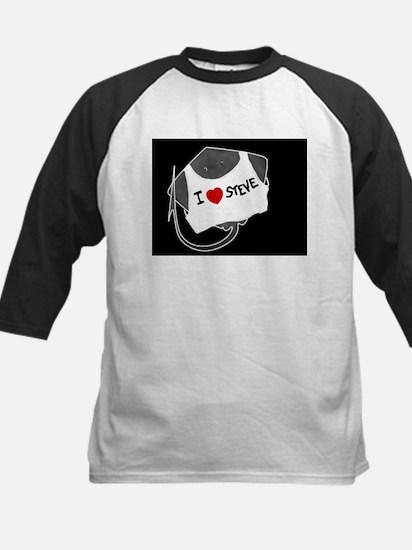 Sting Ray in I Heart Shirt Kids Baseball Jersey