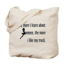 The More I Learn About Women Tote Bag