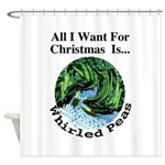 Christmas Peas Shower Curtain