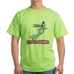 Lets Bounce Cute Bouncing Bunny Rabbit.png Green T