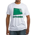 Lets Bounce Dice.png Fitted T-Shirt