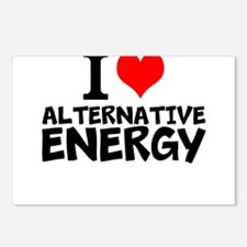 I Love Alternative Energy Postcards (Package of 8)